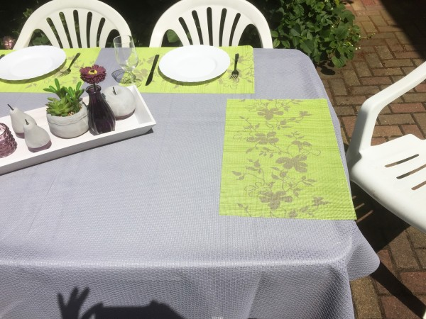Tischsets Miami 3D Druck Flowers Green 30/45