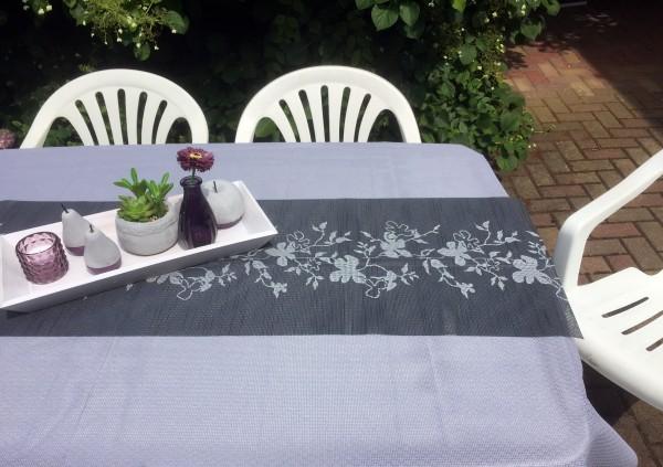Tischläufer Miami 3D Druck Flowers Anthracite 40/150