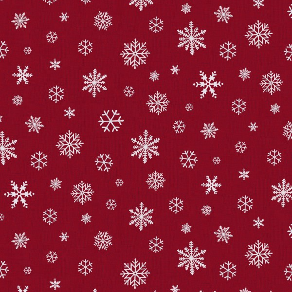 Tischsets Miami Druck Snowflake Red White 30/45