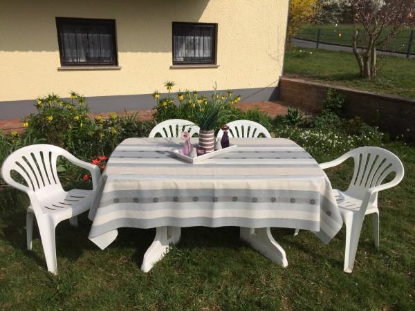Friedola Classic Gartentischdecke Lady Grey Rechteckig auf Maß