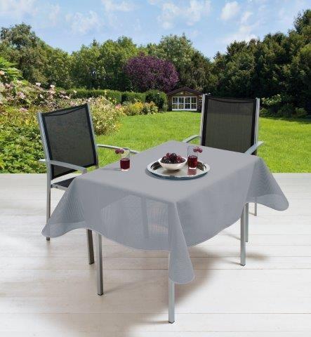 Gartentischdecke Milano mit Rautenpräge, Lilac Grey Quadratisch auf Maß