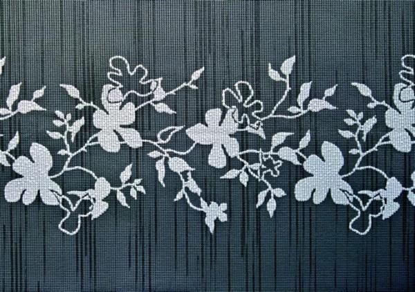 Tischsets Miami 3D Druck Flowers Anthracite 30/45