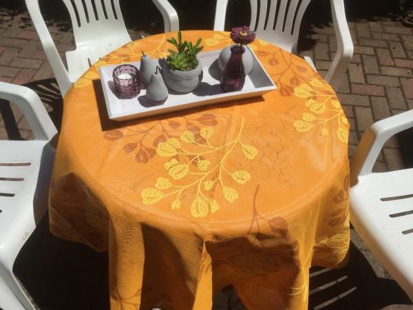 Gartentischdecke Miami 3D Druck Summer Heart Terra Yellow 1,30/1,80 m